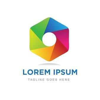 Modern & colorful hexagon logo design