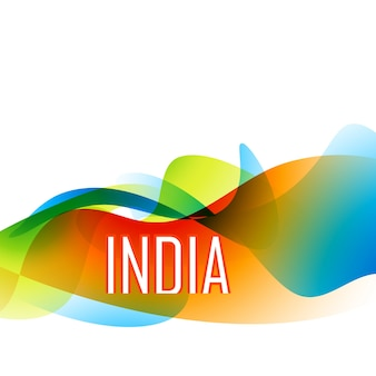 Bella bandiera indiana bandiera stile di sfondo