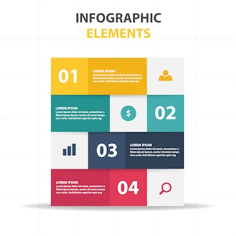 Modello di affari infografici colorati moderni