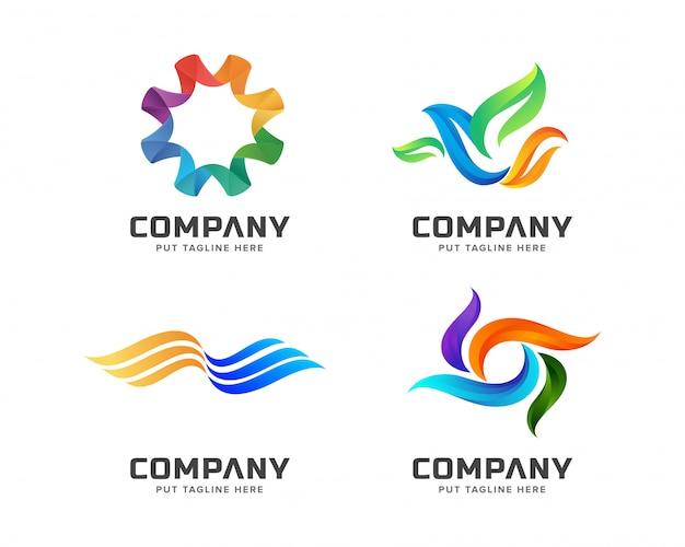 モダンなカラフルなロゴのテンプレート