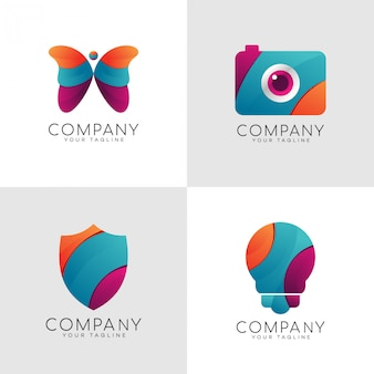 Modern colorful logo
