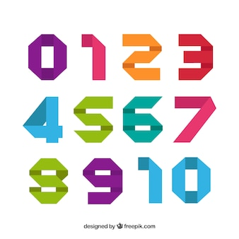 Modern colorful number collection