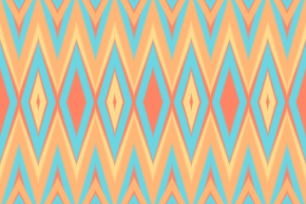 Modern colorful pastel orange ikat seamless traditional pattern. ethnic oriantal design for background, carpet, wallpaper backdrop, clothing, wrapping, batik, fabric. embroidery style