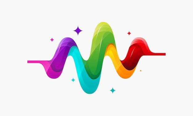 현대 다채로운 펄스 배경 일러스트 템플릿 디자인 벡터, 의료 로고 기호 템플릿