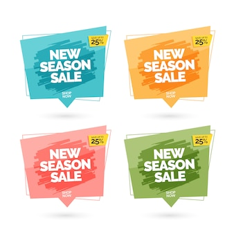Modern colorful sale banners