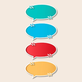 Современная красочная речь пузырь коллекция баннеров