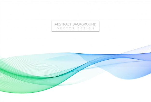 Modern colorful stylish flowing wave background
