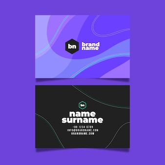 Modern colorful visiting card template