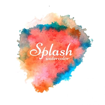 Modern colorful watercolor splash background vector