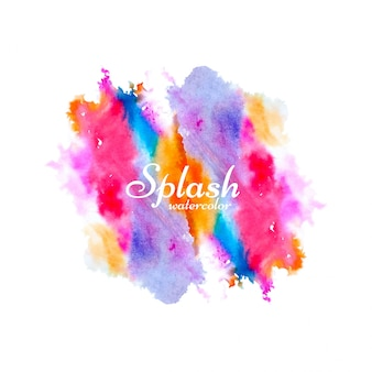 Modern colorful watercolor splash design vector