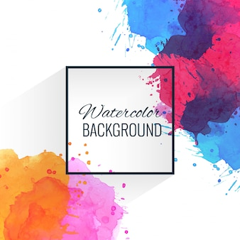 Modern colorful watercolor splatter background