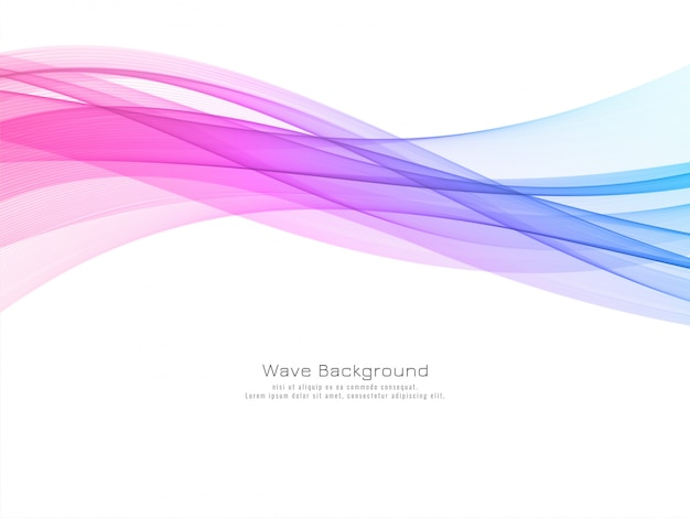 Modern colorful wave decorative background vector