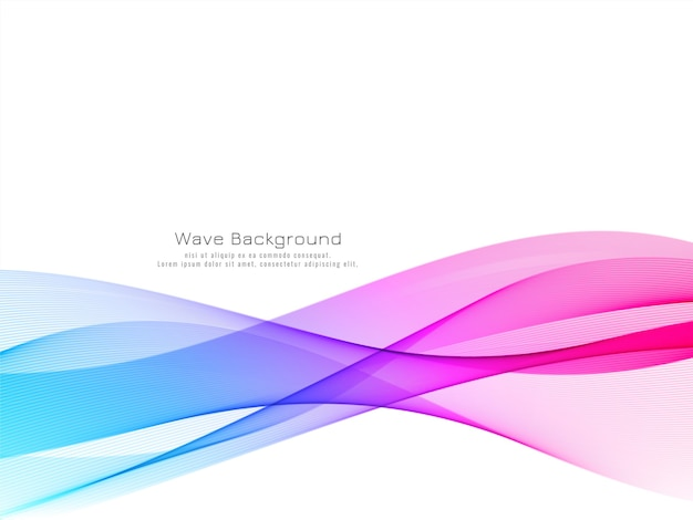 Modern colorful wave decorative background