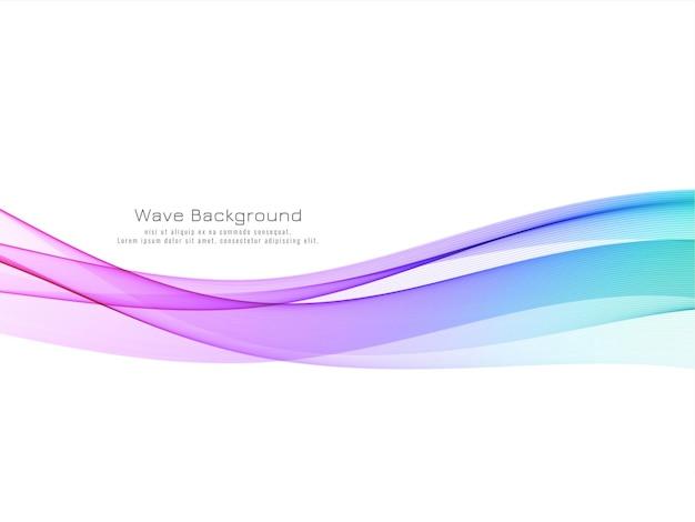 Modern colorful wave decorative background