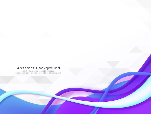 Modern colorful wave design on mosaic background vector