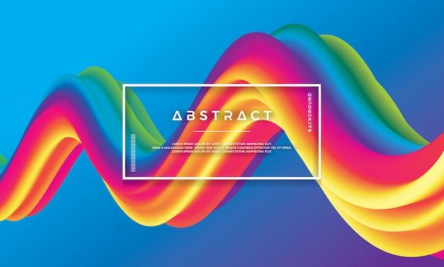 Modern colorful wave, flow liquid background