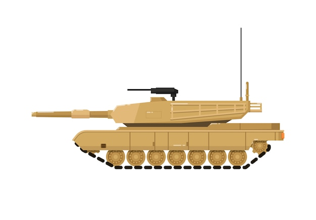 Modern combat tank isolated icon