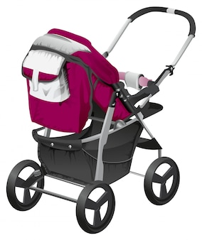 Modern comfortable baby carriage