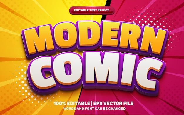 Modern comic cartoon game hero style 3d editable text effect