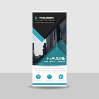 Modern commercial roll up banner