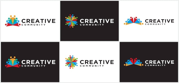 Modern community creative logo, people community logo, for community and business