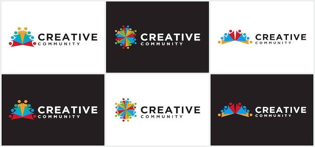Современный креативный логотип сообщества, логотип сообщества людей, для сообщества и бизнеса