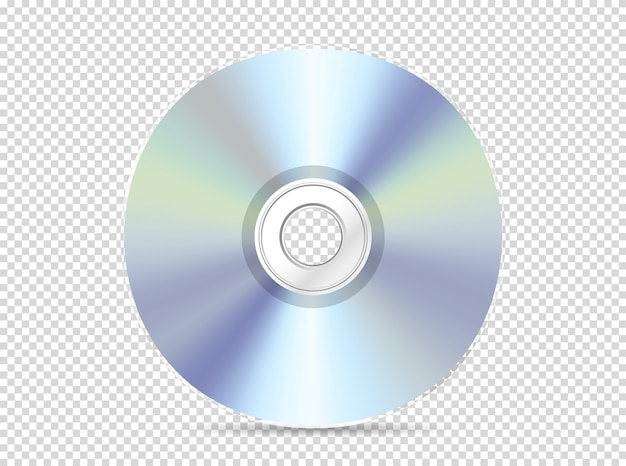 Modern compact disc isolated on transparent
