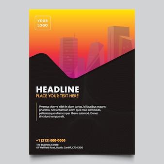 Modern company brochure design