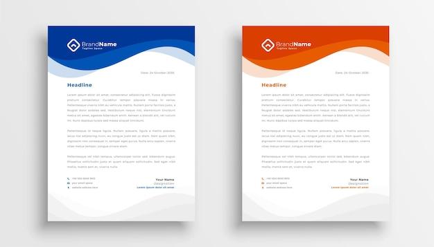 Design moderno del modello di carta intestata aziendale aziendale