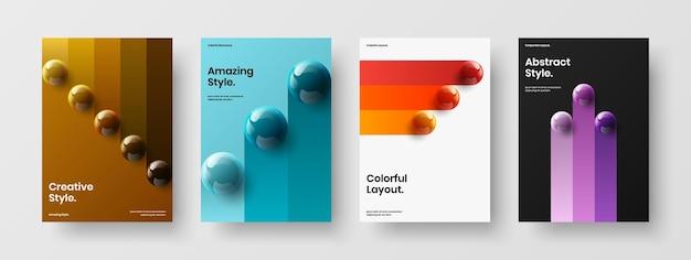 현대 회사 표지 디자인 벡터 템플릿 번들
