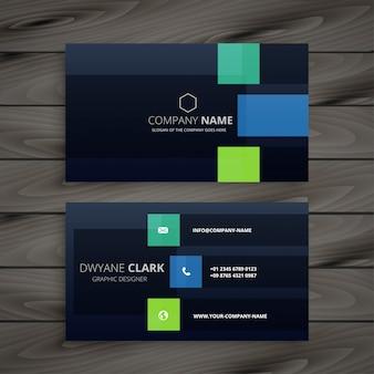 Modern company dark business card design