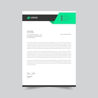 Modern company letterhead design template premium vector