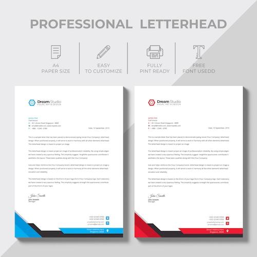 Modern company letterhead