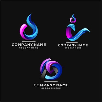 Modern company logomset
