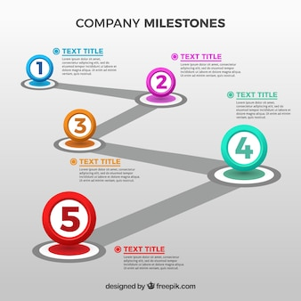 Modern company milestones concept