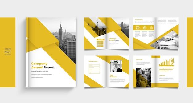 Modern company profile or booklet megazine template