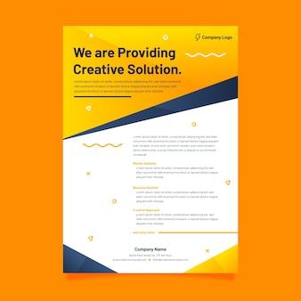 Modern company strategy creative presentation template