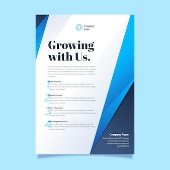 Modern company strategy presentation template