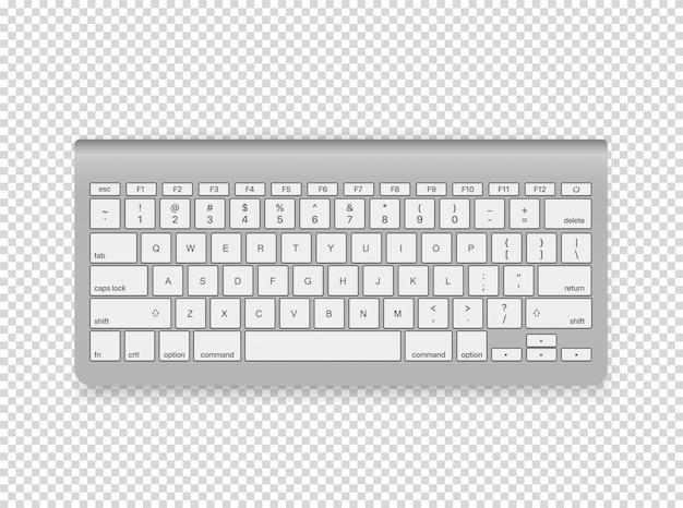 Modern computer keyboard illustration.