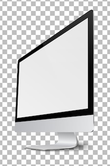 Modern computer monitor display with blank screen.vector