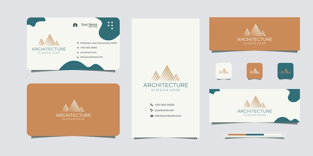 Modern concept architectural building logo and business card