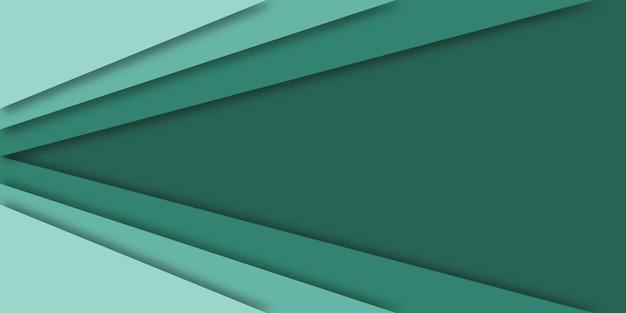 緑の線、紙のベクトルイラストのモダンなコンセプトは、バナーのスタイルをカットしました。
