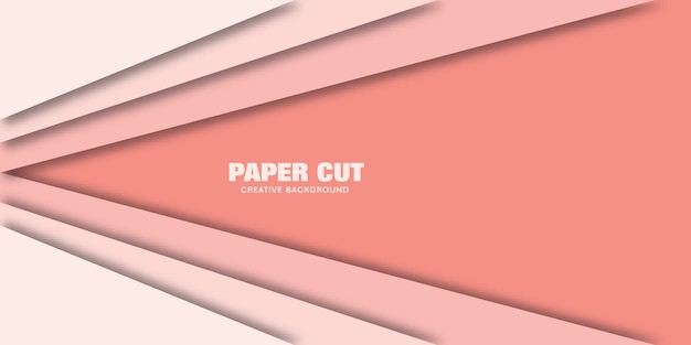 線、紙のベクトルイラストのモダンなコンセプトは、バナーのスタイルをカットしました。