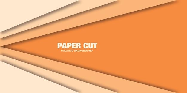 オレンジ色の線のモダンなコンセプトは、バナーの紙のカットスタイルのベクトルイラストです。