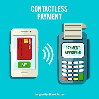 Современный бесконтактный платеж со смартфоном