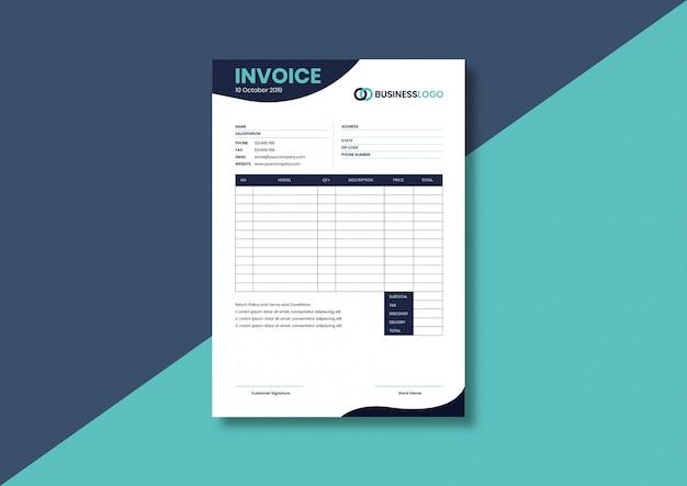 Modern contemporary invoice template