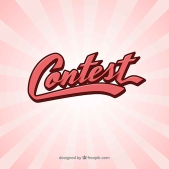 Modern contest lettering with flat design