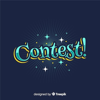 Modern contest lettering with flat desing