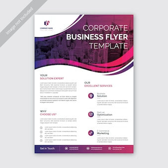 Modern cool gradient business flyer