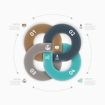Modern cool infographic option element connection vector concept